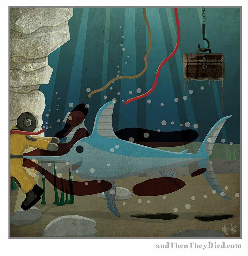 """Last Words """"Deep Sea"""" Print"""