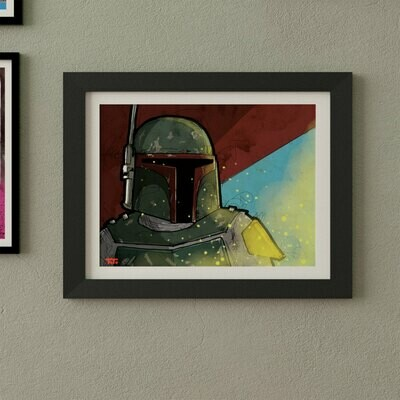 Boba Fett Large Art Print