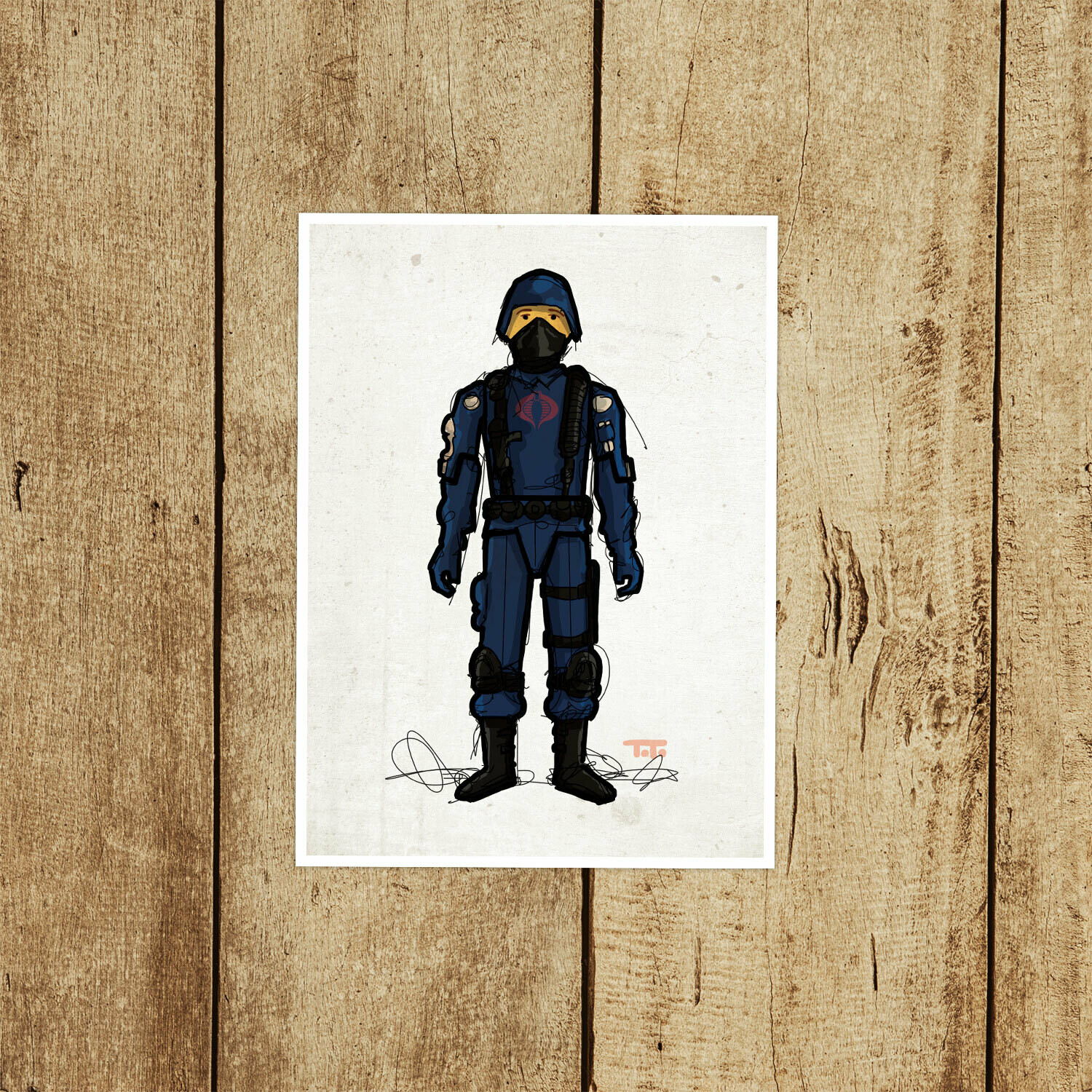 "GIJOE365 002 "" Cobra Trooper"" Prints"