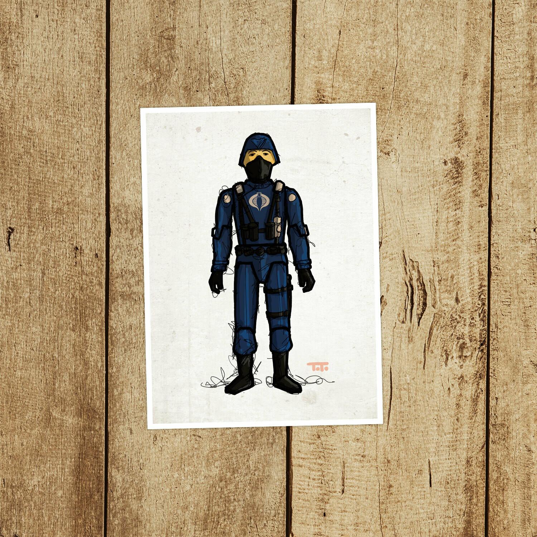 """GIJOE365 003 """"Cobra Officer"""" Prints"""