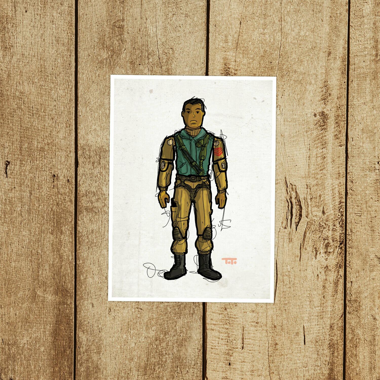 "GIJOE365 017 ""Airborne"" Prints"