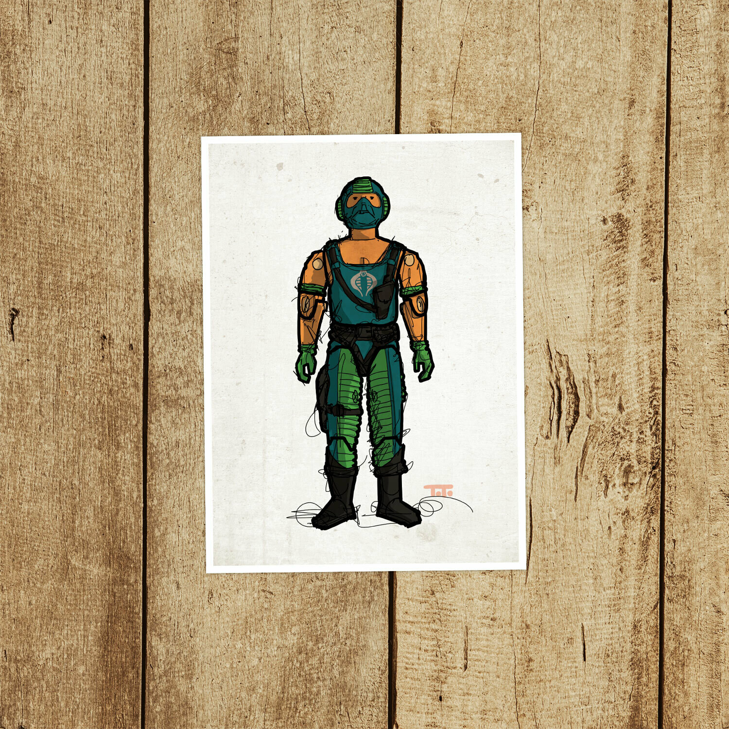 "GIJOE365 045 ""Copperhead"" Prints"