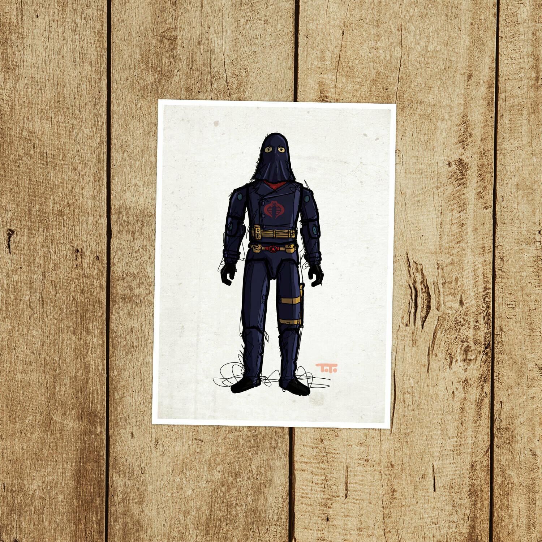 """GIJOE365 051 """"Cobra Commadner (v2)"""" Prints"""