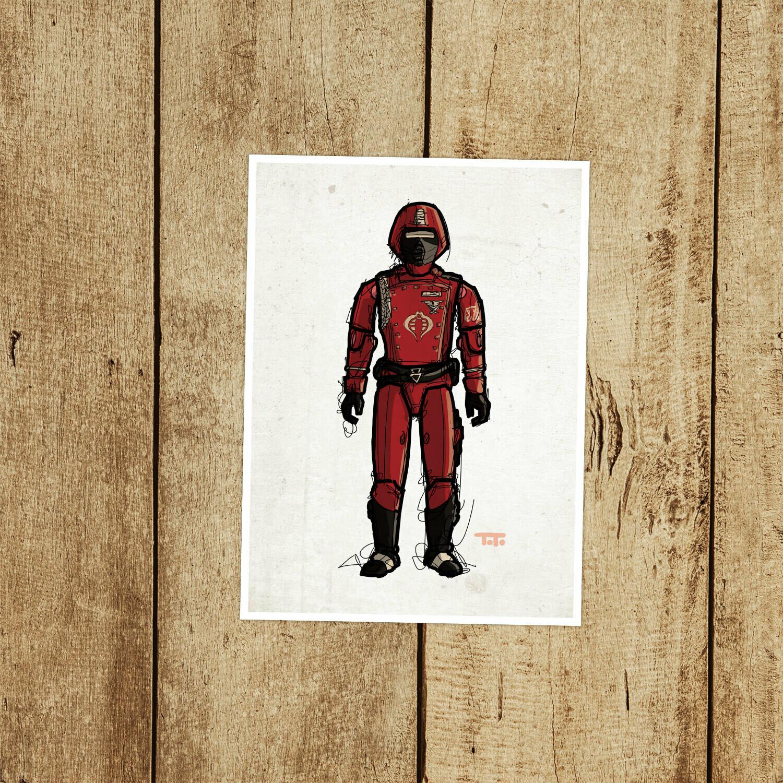 "GIJOE365 057 ""Crimson Guard"" Prints"