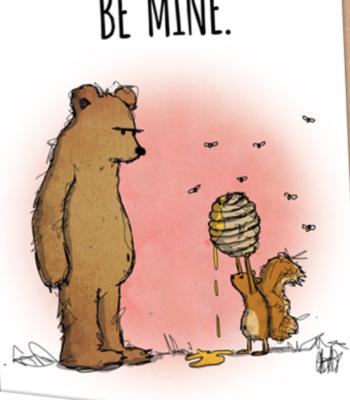 """CARD - Woodland - BEAR - """"Be Mine"""""""