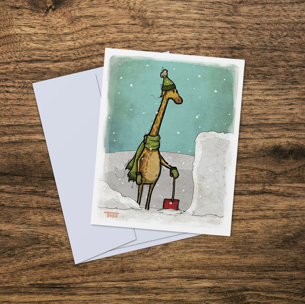 """Out of Africa"" Card: GIRAFFE"