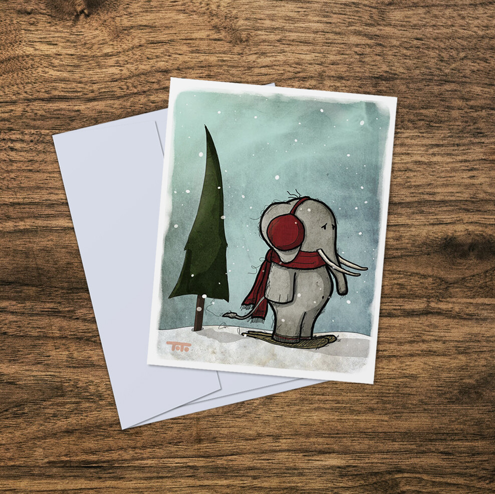 """Out of Africa"" Card: ELEPHANT"