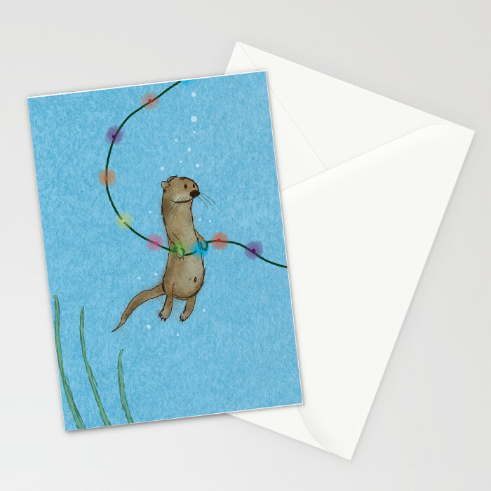 "Woodlands: ""Otter"" Card"