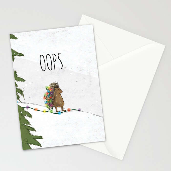 "Woodlands: ""Porcupine"" Card"