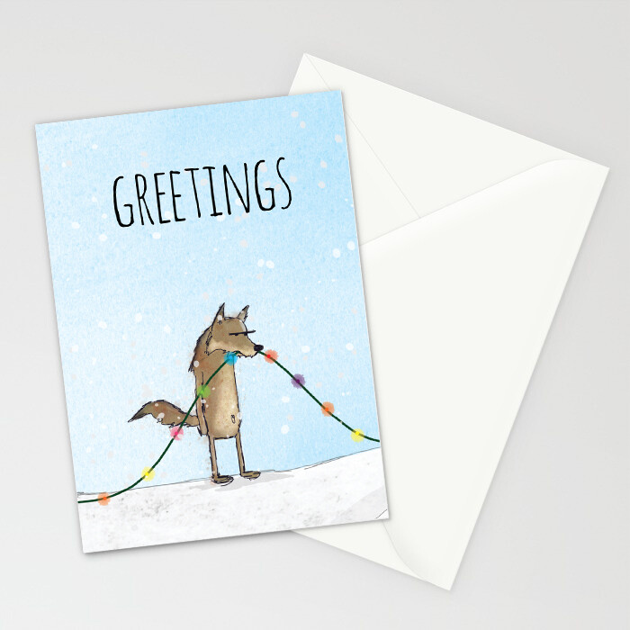 "Woodlands: ""Wolf"" Card"
