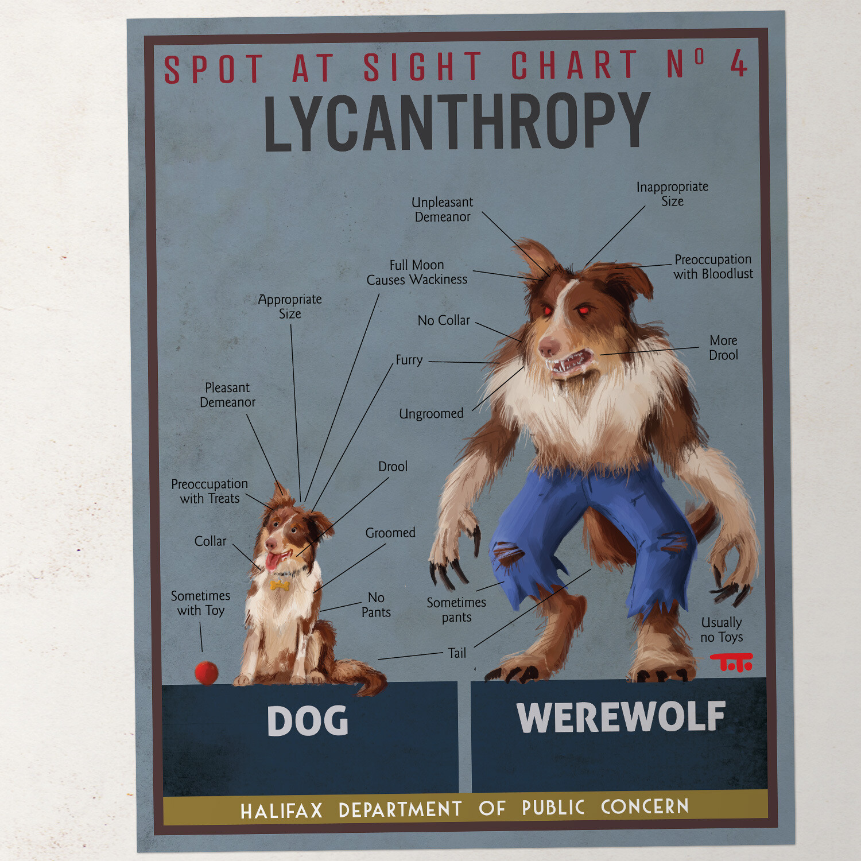 HW - POSTER - Dog / Werewolf