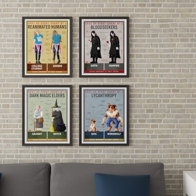HW - POSTERS - Spot at Sight 4-pack