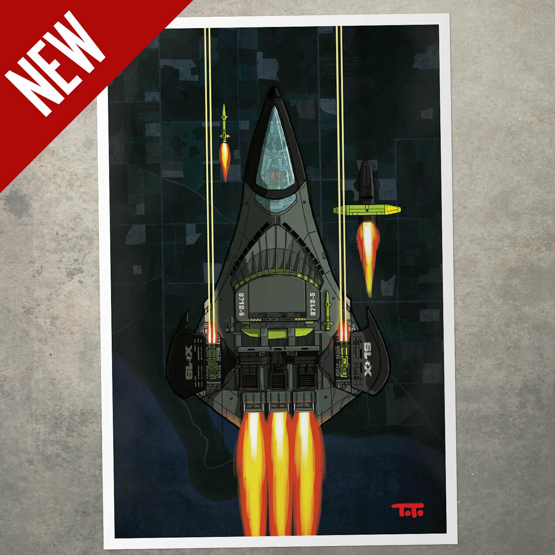 GIJOE365 POSTER - Phantom X-19 (battle)