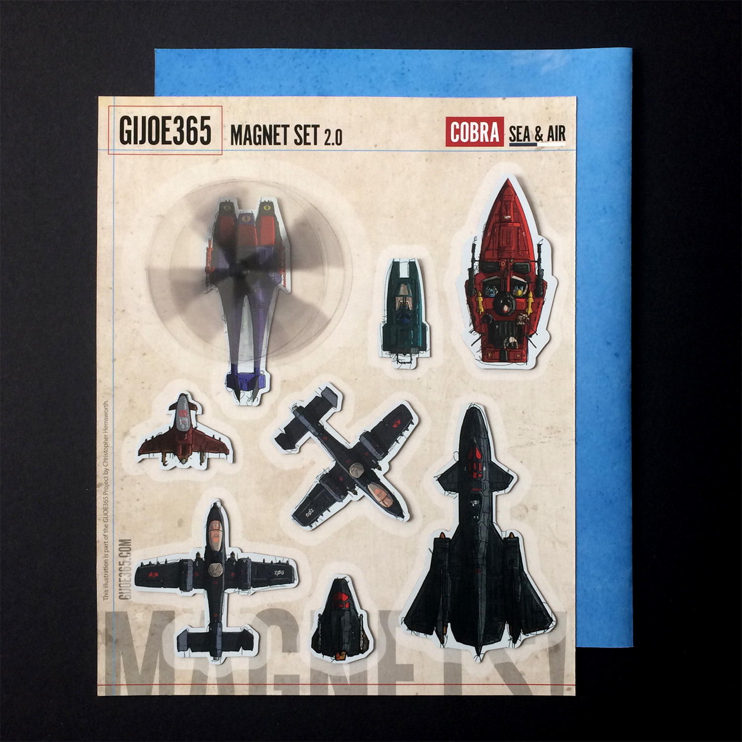 GIJOE365 Cobra Sea/Air Magnet Set