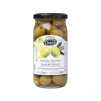 Оливки фаршированные лимоном, 360 г