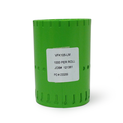 "Etiqueta vinil Verde Lima 1/2"" x 5"""