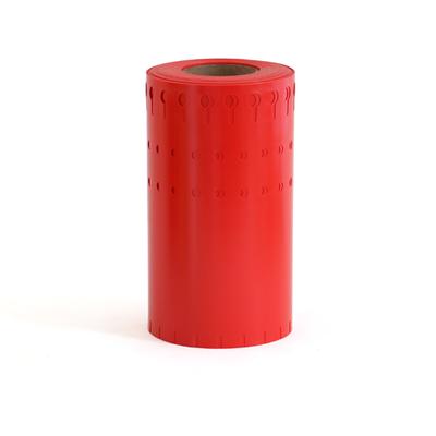 """Etiqueta  vinil Roja 5/8""""x 7"""""""
