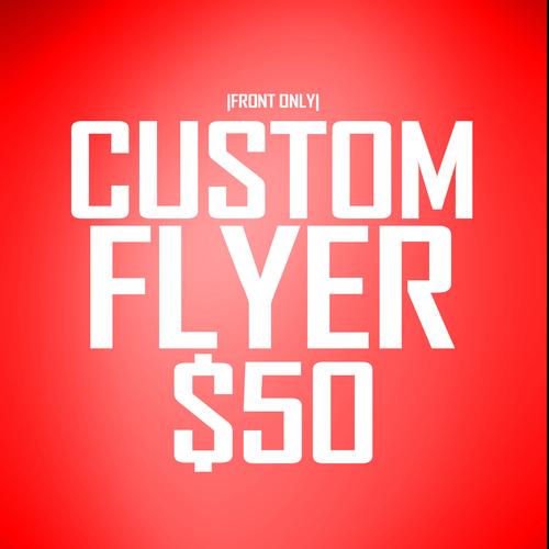 Custom 1 Sided Flyer Design
