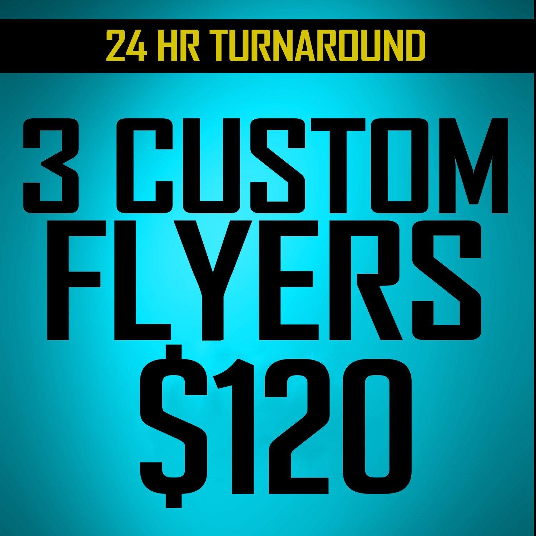 Triple Play  3 flyer Designs