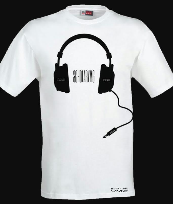 ScholarVMG Headphones Tee White