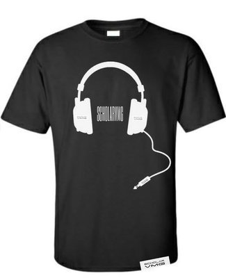 ScholarVMG Headphone Tee Black