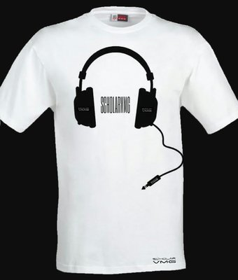 ScholarVMG Headphones Tee White