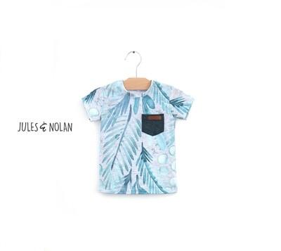 VENTE FINALE - T-shirt Bébé - Feuillage d'été