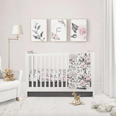 3 FICHIERS numériques décorative - Trio floral