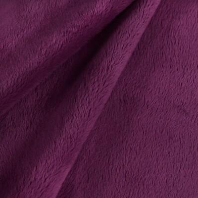 Tissu au mètre - Minky mauve