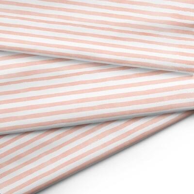 Tissu au mètre - Rayé corail