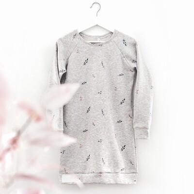 Robe/Tunique ouaté pour femmes - Fleurs rose antique