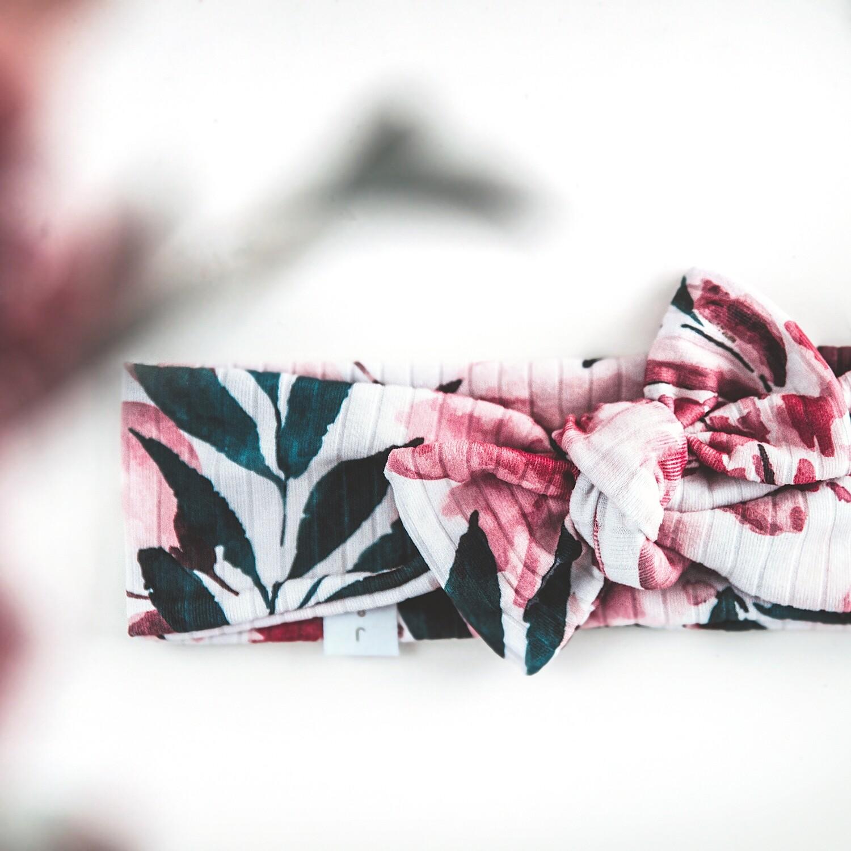 Bandeau à nœud - Floral Émeraude