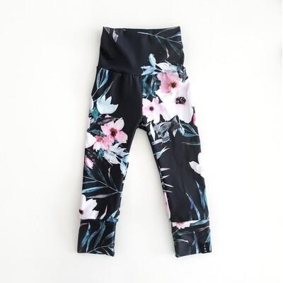 Leggings pour filles - Black Floral