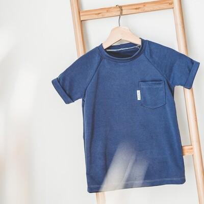 T-Shirt à poche - Bleu