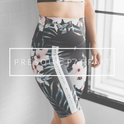 VENTE FINALE - Short cuissard Black Floral