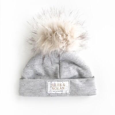 Tuque Doublée de polar (HIVER) - Gris