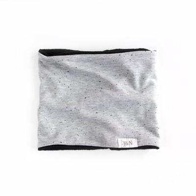 Cache-cou doublé de polar (HIVER) - Gris