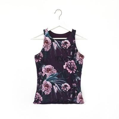 Camisole réversible pour femmes- Prune floral/Prune