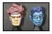 Mutant Hero Heads Set 02 (The Gambler and the Devil)