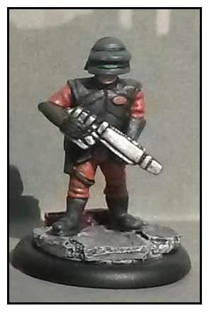 Uni-Tech Trooper No. 03 (Helmet, Visor Down and Rifle Lowered)