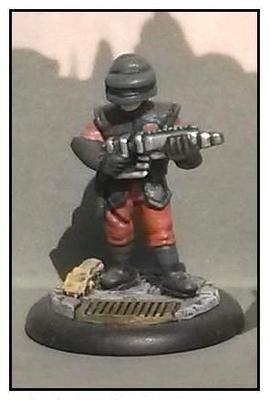 Uni-Tech Trooper No. 01 (Helmet, Visor Down and Rifle)