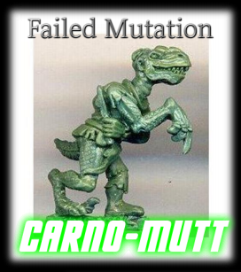 Carno-Mutt (Dino-Man Hybrid)