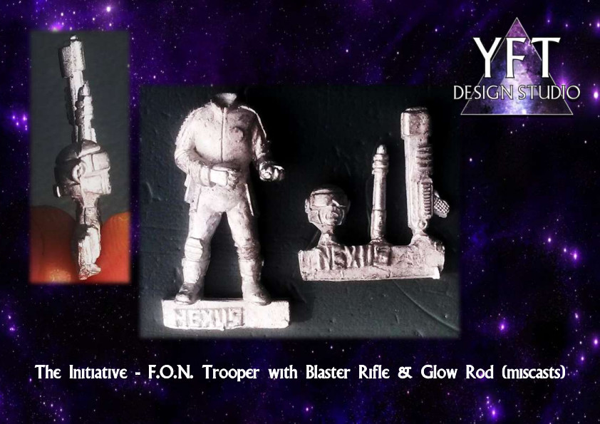 The Initiative - F.O.N. Trooper with Blaster Rifle and Glow Rod (miscasts)