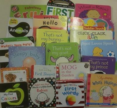 Large Box of Baby Board Books - Minimum 30 books per box