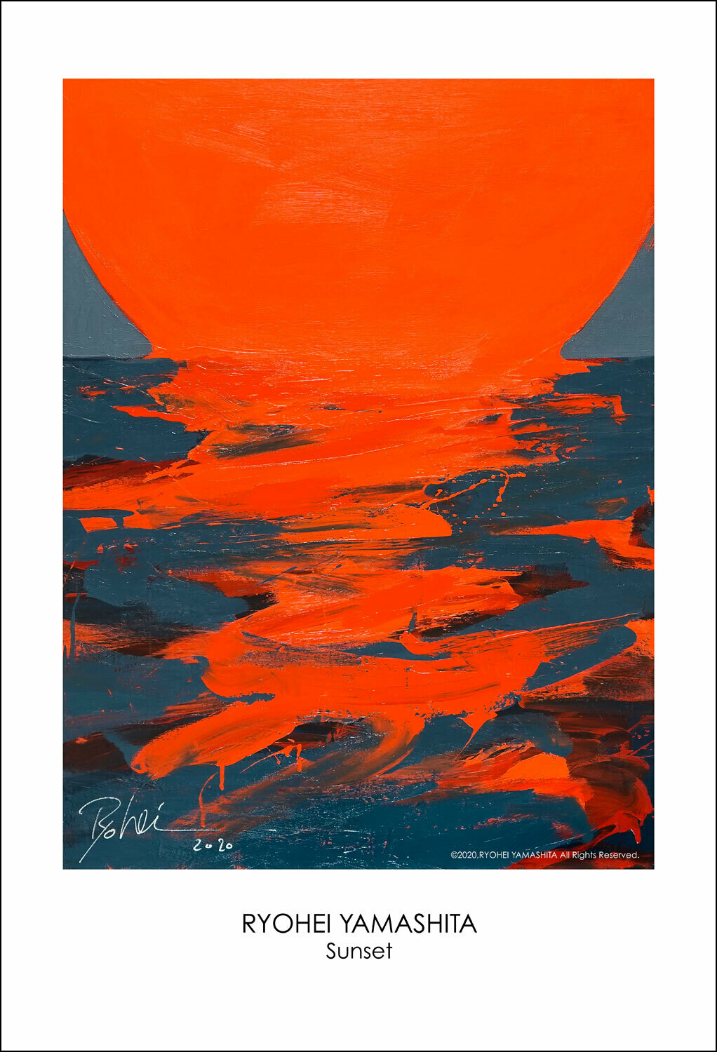 "Giclee Poster ""Sunset"""