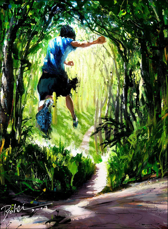 "Original piece ""Tarzan 719 Trail run"""
