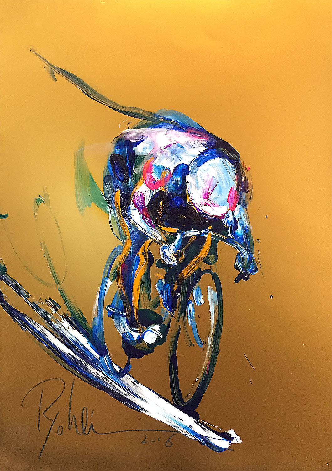 "Original piece ""Keirin 3"""
