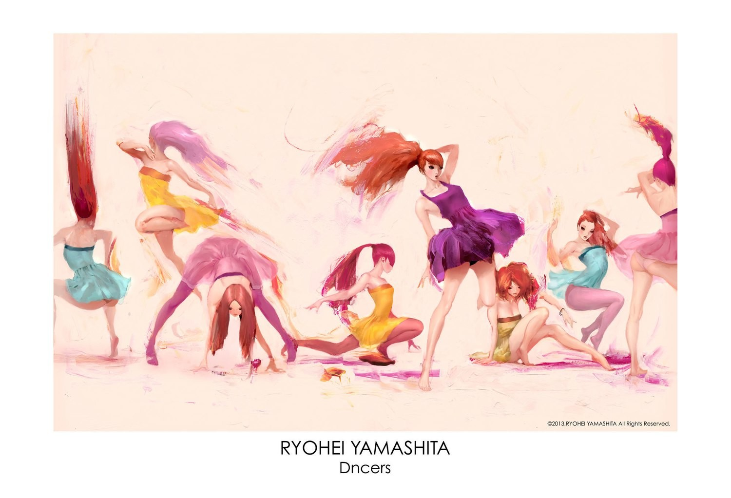 """Giclee Poster """"Dancers"""""""