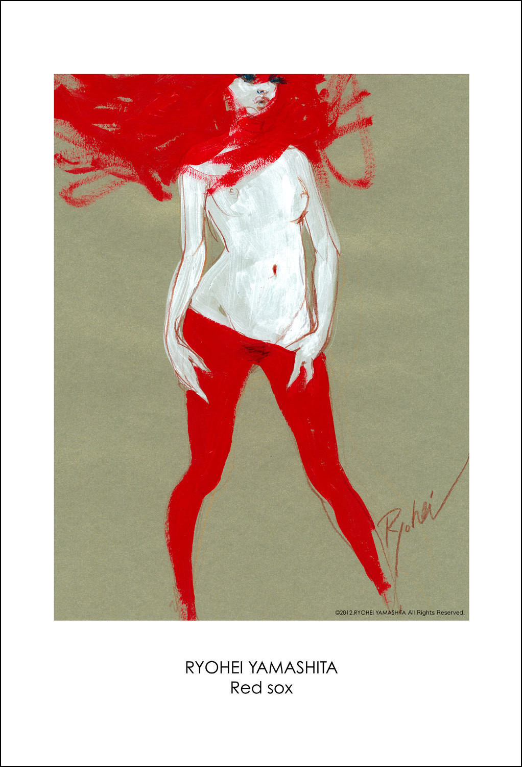 """Giclee Poster """"Red sox"""""""