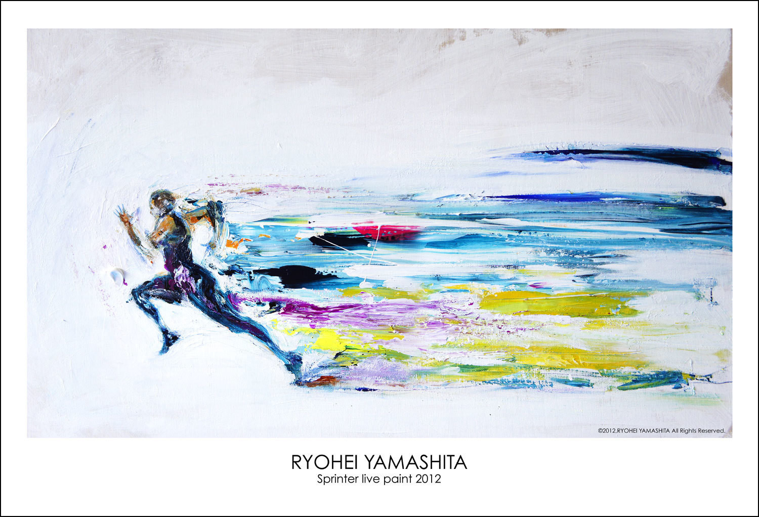 "Giclee Poster ""Sprinter live paint 2012"""